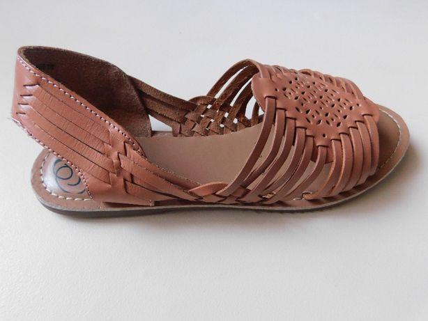 Mantaray Nowe sandały buty damskie skóra, wąska stopa roz.38