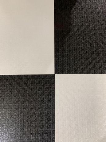 Gres podłogowy  czarno biały szachownica   Trinity 60x60