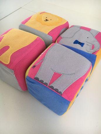 Pluszowe miękkie puzzle kostki dla niemowląt