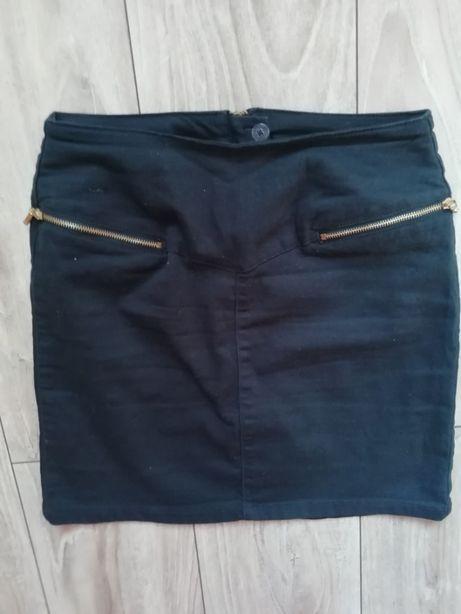 spódnica spódniczka ESMARA 36 S ołówkowa granatowa wysoki stan