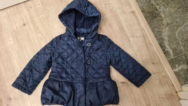 Jasper Conran super kurtka granat jesień/zima r. 86/92
