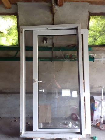 Okno 188x105 PCV białe z ramą