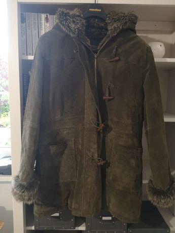 Skórzana kurtka jesienno- zimowa