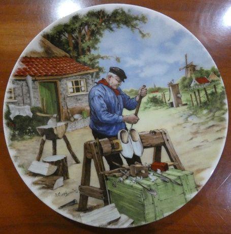 Pratos pintados à mão