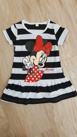 Nowa sukienka tunika,  Myszka Minnie, ostatni rozm 86!!