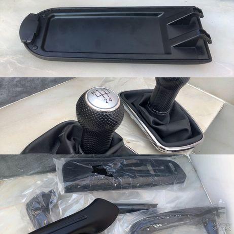 Vw golf 4 bora apoio braço puxadores interior manete velocidades cinza