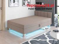 Łóżko kontynentalne do sypialni 90/100/120 HIT Młodzieżowy tapczan LED