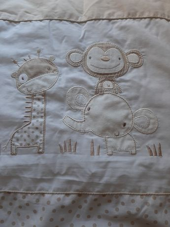 Детское одеяло и бортик в кроватку