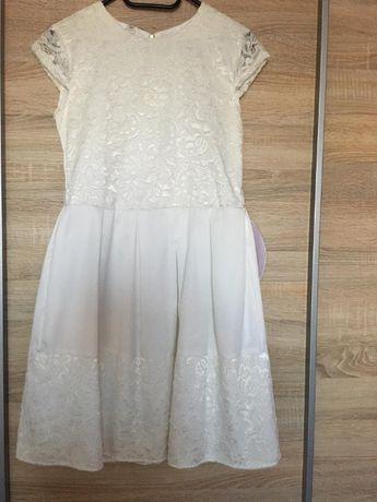 "Sukienka roz. 158 (kolor ecru ,,brudna biel"")"
