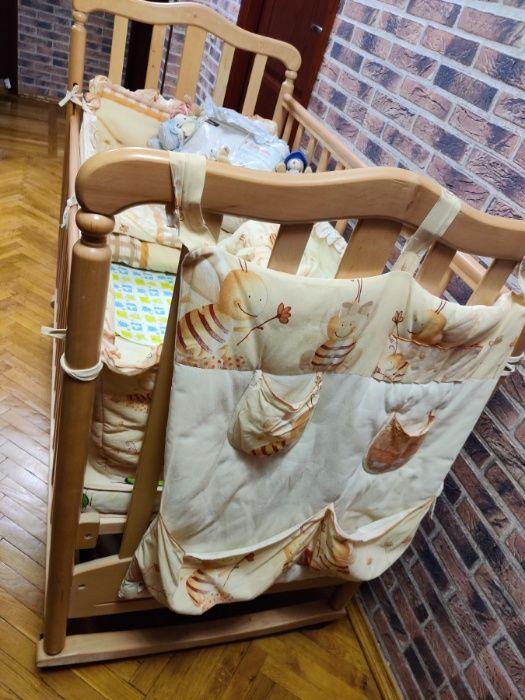 Дитяче ліжко VERES СОНЯ ЛД-8 (маятник із ящиком, декор) + подарунки! Киев - изображение 1