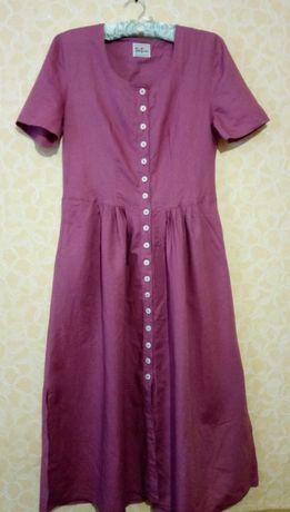 Шикарное платье betty barclay , платье-халат, лён