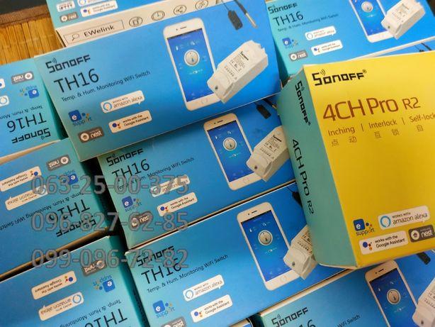 04.05.21 Sonoff TH16 Wi-Fi Реле 15А. Новые. Оригинальные. В наличии.