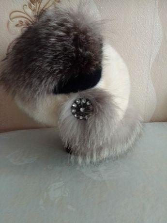 Меховая зимняя шапка