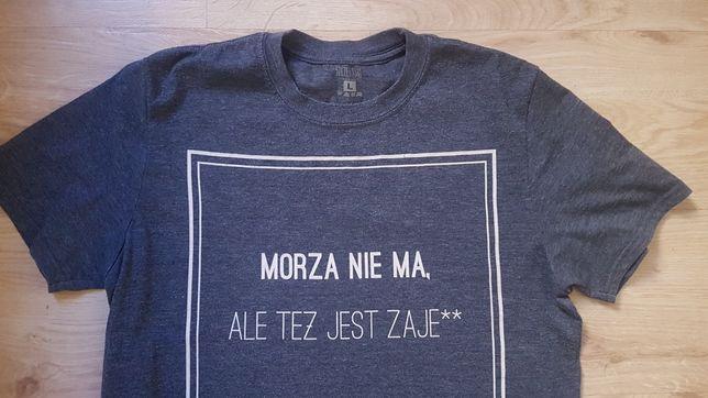 MORZA NIE MA ALE TEŻ JEST ZAJE*** koszulka T-shirt L Szczecin