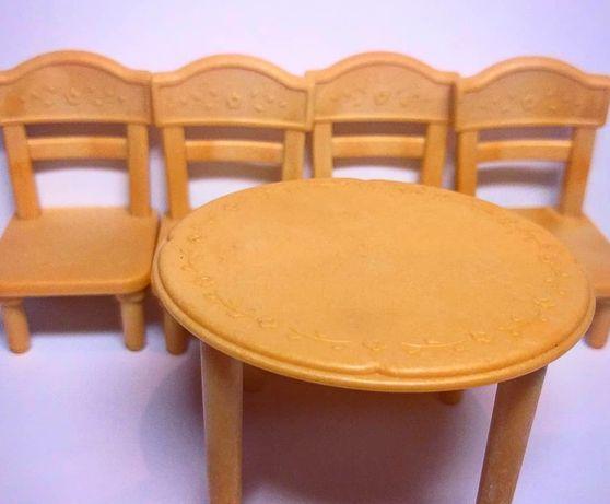 Lps, littlest pet shop, лпс, мебель для lps. Кухонный стол и 4 стула