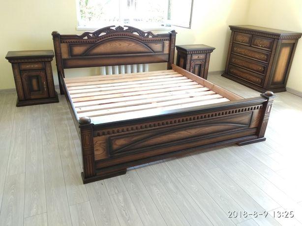 Ліжко кровать спальня дубова