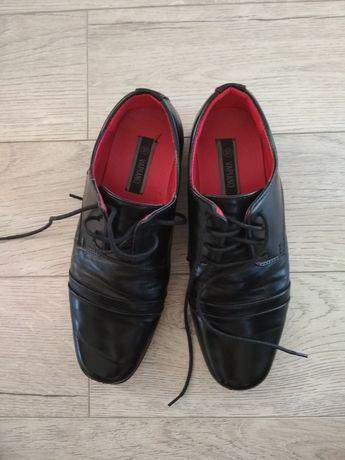 Buty chłopięce wizytowe, do garnituru, komunijne rozmiar 37