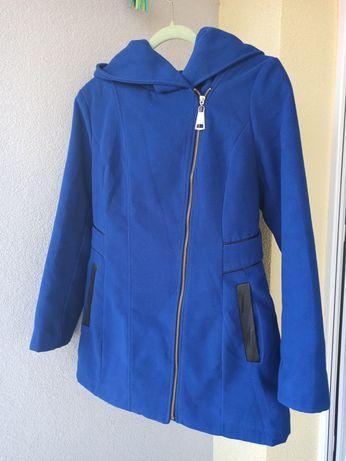 Płaszcz damski niebieski