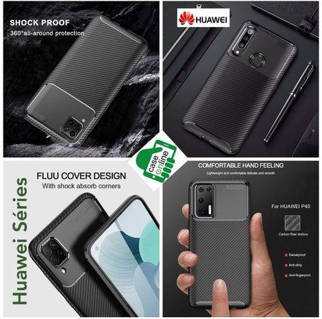 Capa Tipo Fibra Carbono P/ Huawei P Smart 2021 / P20 Lite -Nova-24h