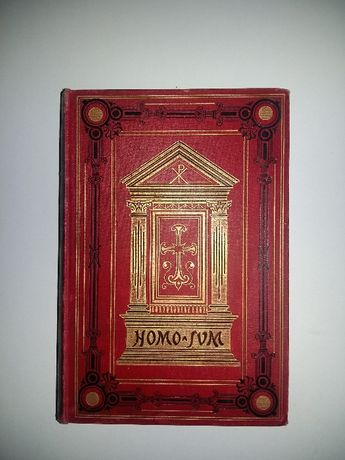Homo Sum - Roman - Georg Ebers 1902 rok! Piekna! Gratis!