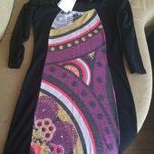 Очень красивое тёплое итальянское платье с принтом