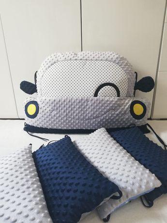 Ochraniacz modułowy na łóżko dla starszaka. Ochraniacz poduszkowy auto