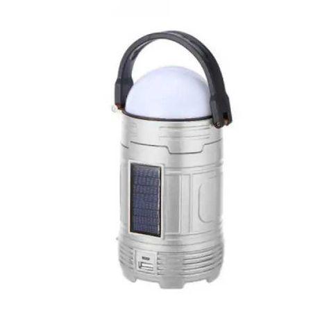 Лампа-фонарь для кемпинга с солнечной батареей Camping DC-5812 Серебро