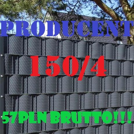 Ogrodzenia panelowe panele ogrodzeniowe panel 150 fi4 PRODUCENT