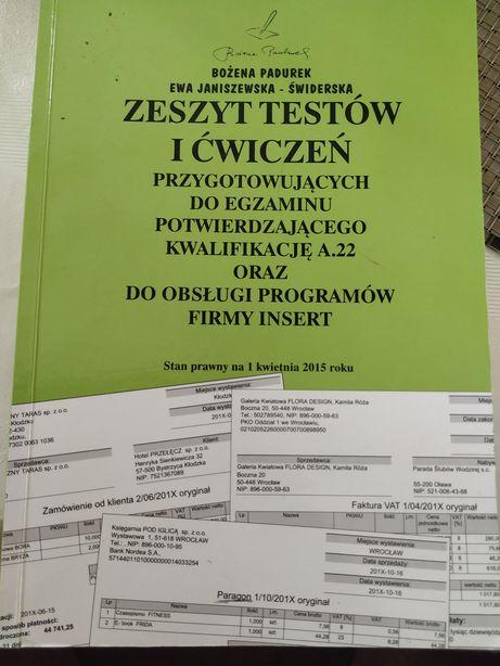 Zeszyt testów i ćwiczeń przygotowujących do egzaminu A.22