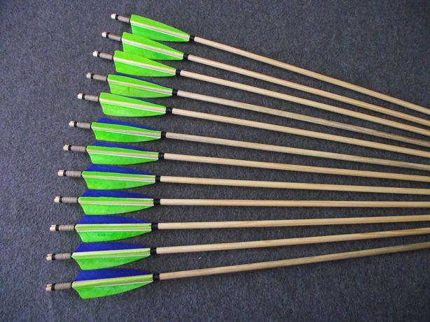 25-30 świerk nr 600 Komplet strzał do łuku strzały strzała drewniana