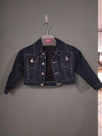 Lekko ocieplana katanka jeans dla dziewczynki