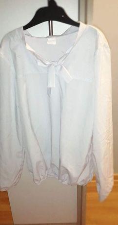 Bluzka biala dziewczynka elegancka