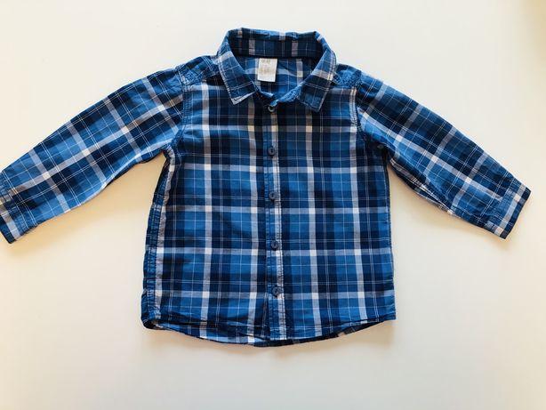 H&M koszula dla chlopca bawelna rozmiar 80