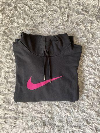 Czarna bluza nike rozmiar M z rozowym logo