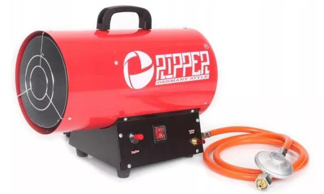Nagrzewnica gazowa 20kW 500m3/h dmuchawa piecyk MarPol +wąż i reduktor