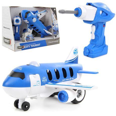 Самолёт-конструктор с шуруповертом