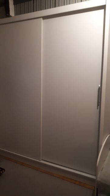 Szafa biała 180 szkło lacobel