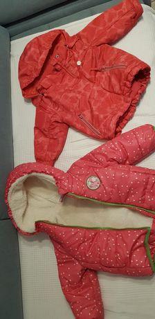 Kurtki zimowe dla dziewczynki r.80
