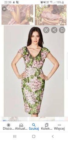 Sukienka taranko rozm.40 z włoskiej koronki PREMIUM