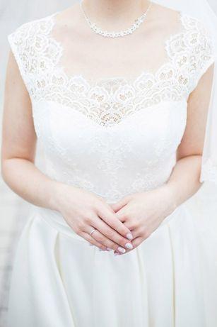 Свадебное платье, цвет айвори 44 размер