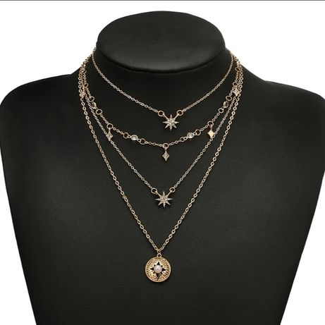 Łańcuszek kaskadowy, choker, biżuteria
