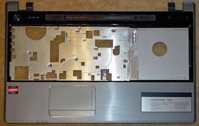 Ноутбук Acer Aspire 5553G по запчастям.