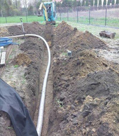 Drenacje drenaże odwodnienia działek posesji zakładanie ogrodów
