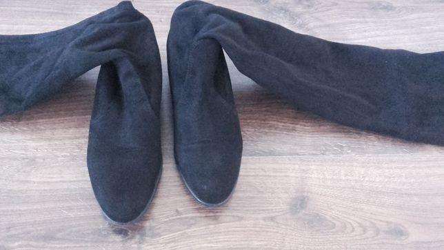 Muszkieterki R. Polański zamsz zamszowe długie buty 36