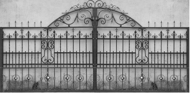 ковані ворота готові ковка брама