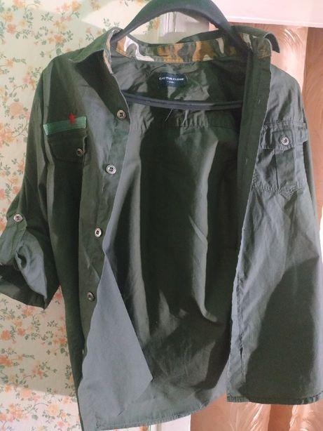 Сорочка дитяча кольору хакі