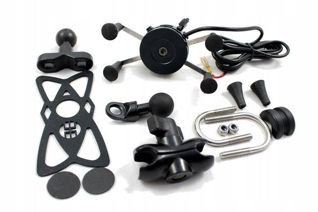 UCHWYT TELEFONU USB Motocykl GPS typu ram mount X-grip motocyklowy