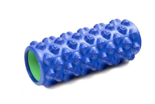 Массажный ролик для йоги. Валик масажный ролер для фитнеса.