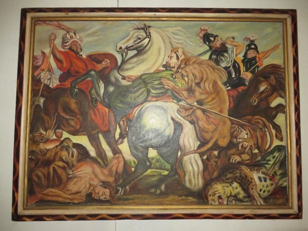 """Картина П. Рубенса """" Охота на тигров и львов"""" (копия)"""