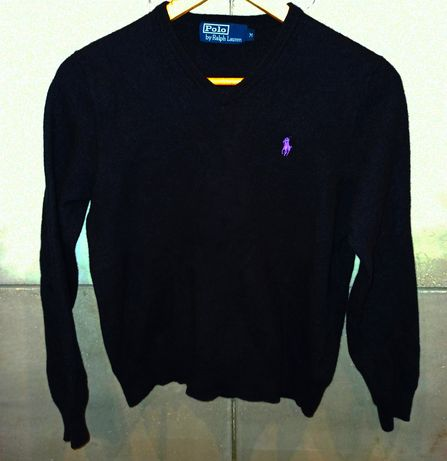 czarny sweterek Ralph Lauren